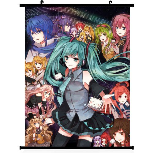 Vocaloid Anime Wall Scroll Poster (24''*32'')support Customized Anime World