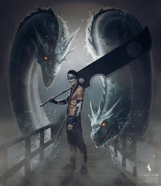 Water Dragon Bullet Technique by catandcrown on DeviantArt