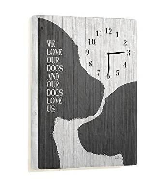 We Love Our Dogs Wall Clock