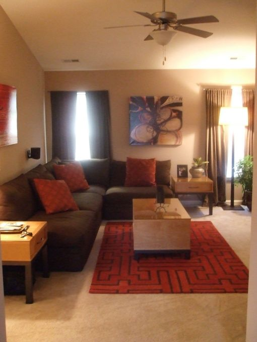 We need to get a nice, modern rug and some coordinating pillows. Trevor won't agree, but I think