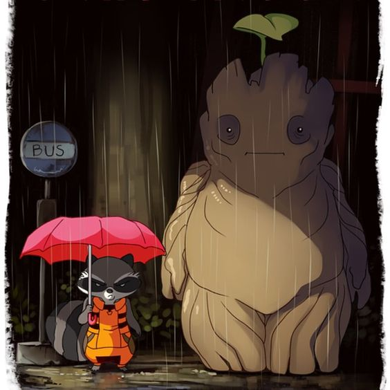 why is groot so fat!? i know he is supposed to be Totoro, but they could at least make him more tree like