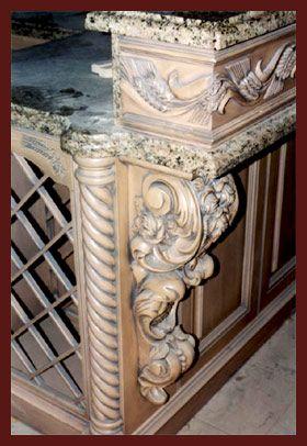 Wood carved corbols 1