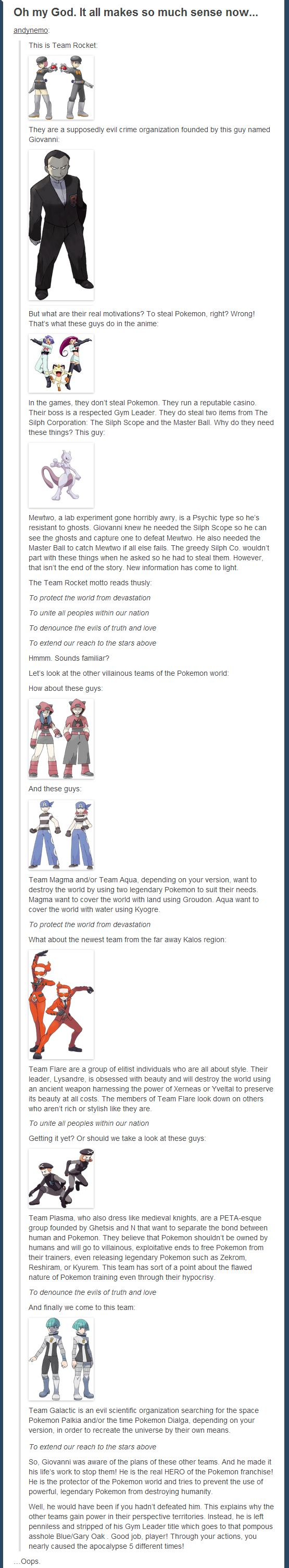 Wow, I will never look at Team Rocket the same again!