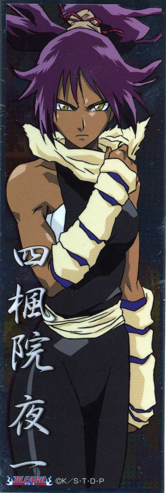 Yoruichi, bleach i much love  want to be a mix between her and Nel and Kenpachi