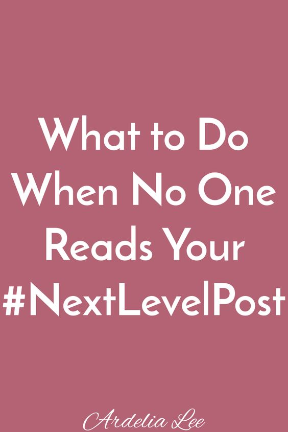 You've written an incredible blog post. You poured your heart into it, but no one read it. What do you do? Give up on blogging? Throw a pity party? No and no. Click through to find out what you should do when no one reads your post.