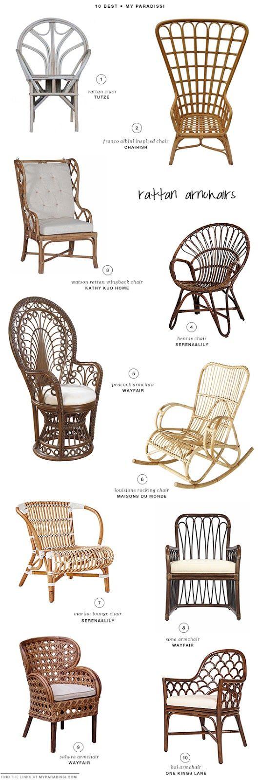 10 BEST: Rattan armchairs   My Paradissi
