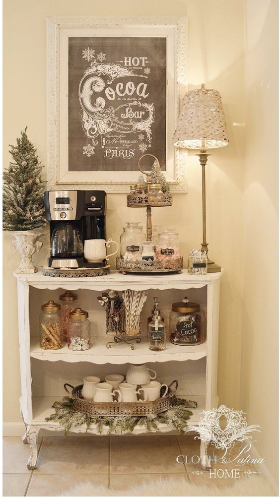 A Winter Hot Cocoa Bar with a French Flair