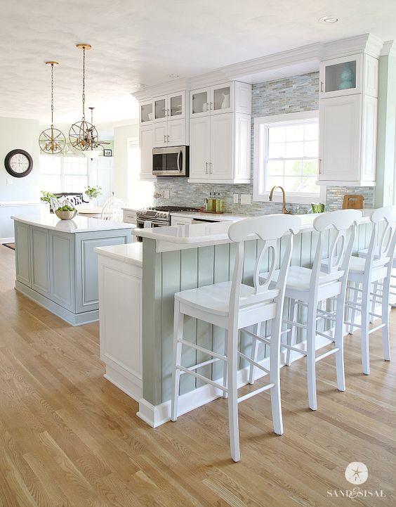 Coastal Kitchen Makeover