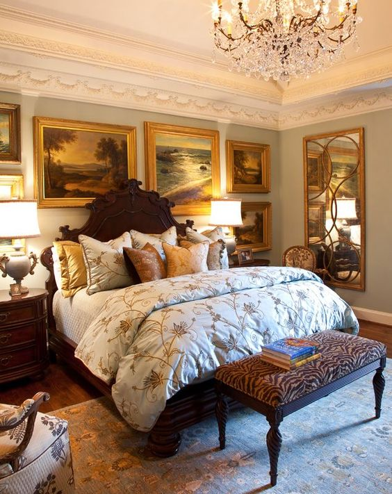 English Country Bedroom ~ I think this is a gorgeous room to go to sleep in and probably even better to wake up in! ~sandra de~
