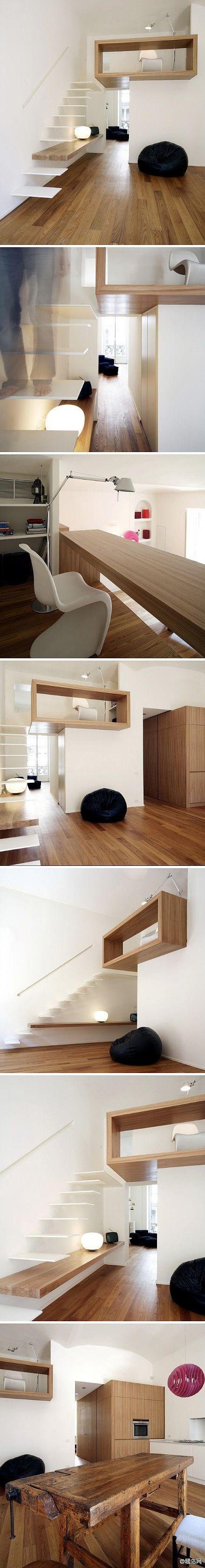 escalier + bureau