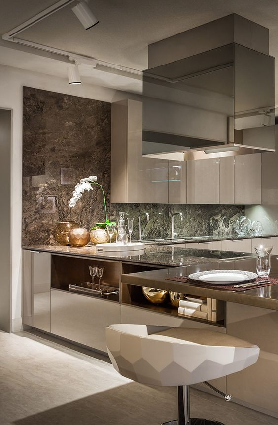 Fendi Casa Ambiente Cucina design at Luxury Living new showroom in Miami Design Destrict #kitchen