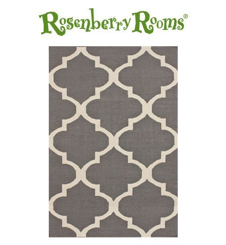 Gorgeous gray rug!