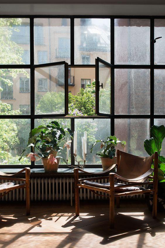 Industrial window.
