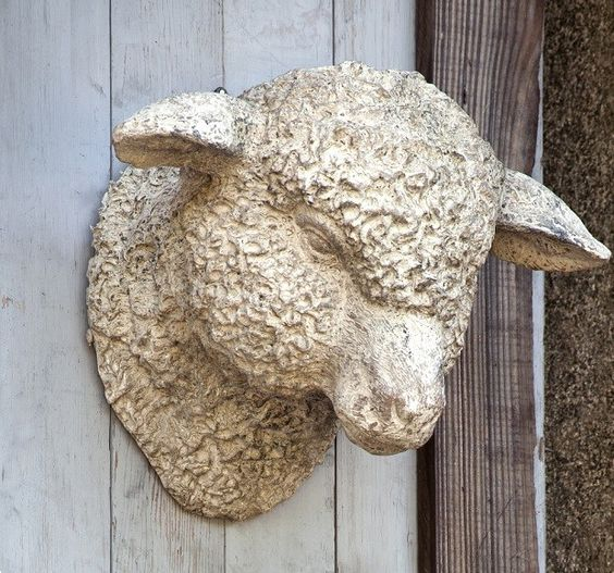 Lamb Head Wall Mount