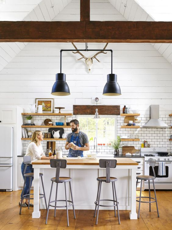 Love how they rewired IKEA pendant lights into one fixture