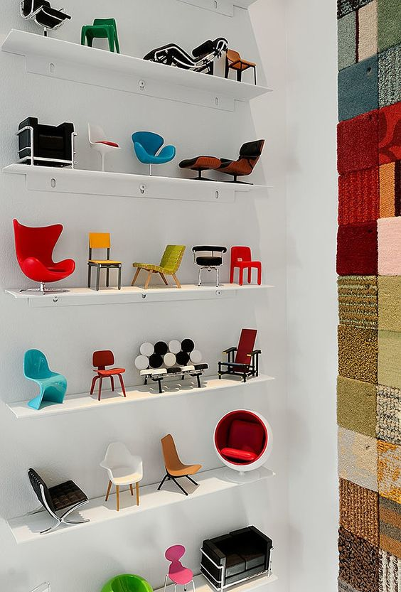 miniature iconic chairs