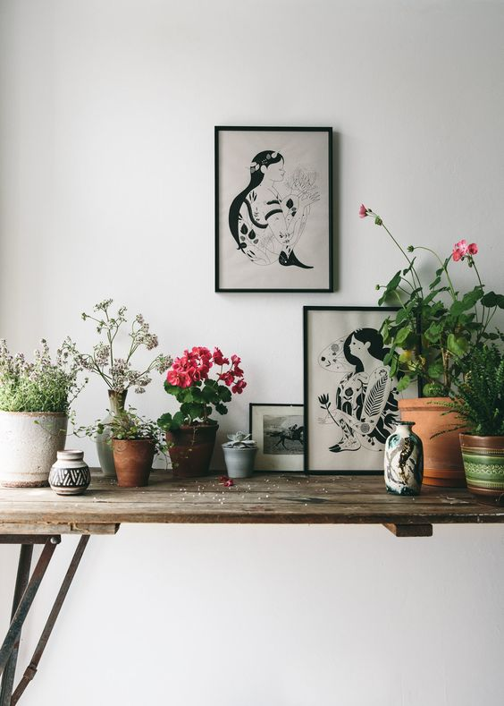Nature inspired art prints for the home.