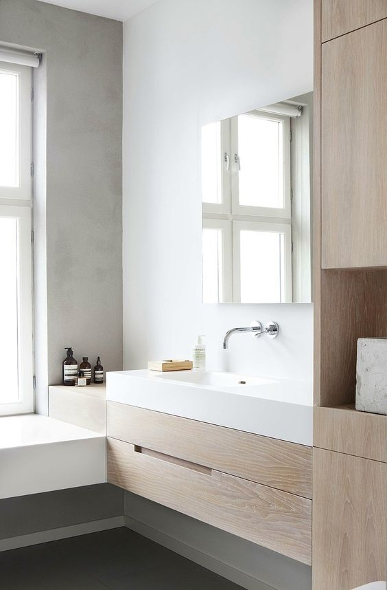 Perfect Wooden White, Bathroom Sink