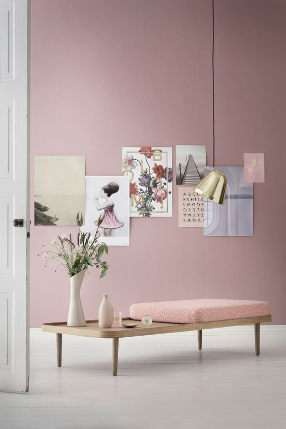 Pink Home decor and design inspirations in Pantone 2016 interiors in Rose Quartz and Serenity