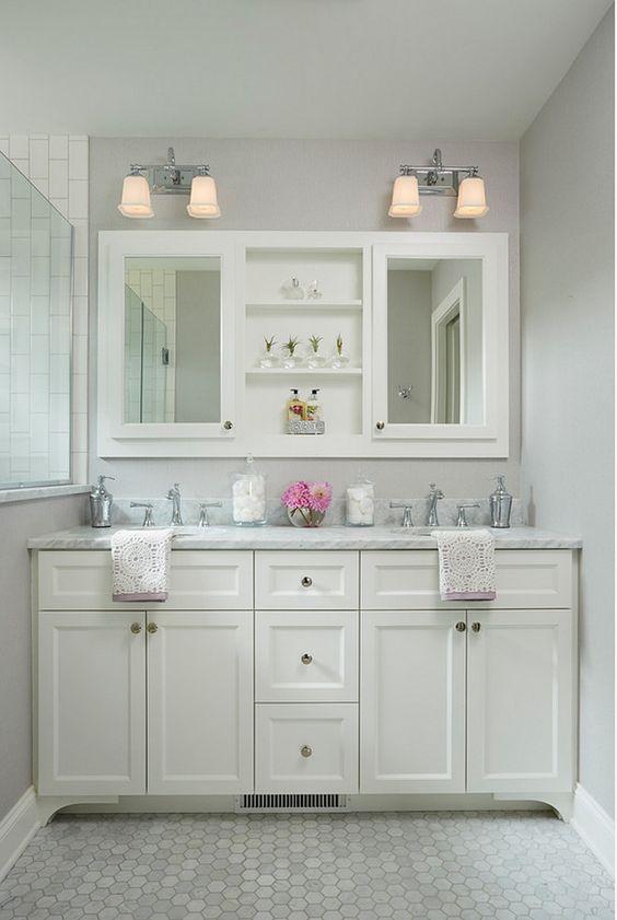 Small bathroom vanity dimensions. Small bathroom vanity dimension ideas. This custom double vanity measures 5' - 8 1/2