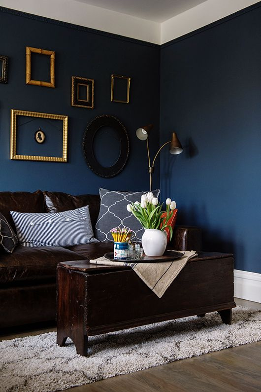 That color! Dark walls. unexpected guests: leigh beisch / sfgirlbybay