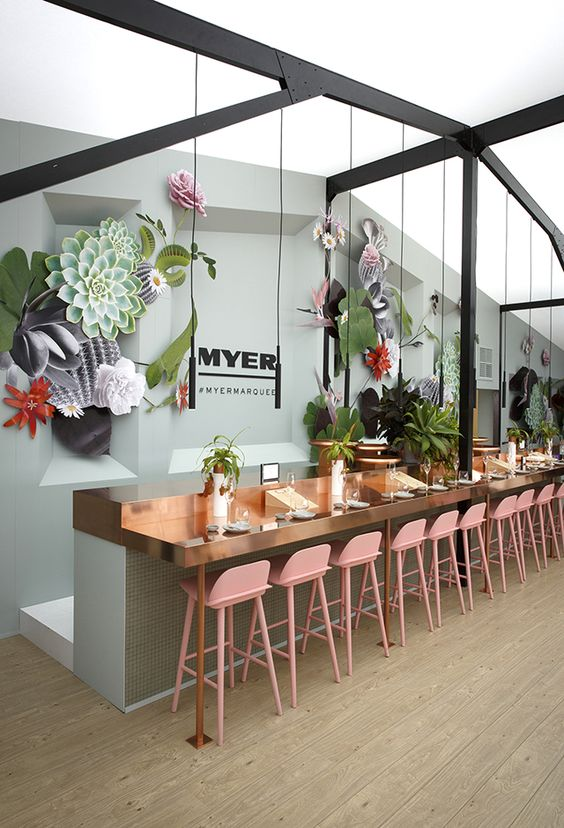 The Myer marquee was transformed into a world of wonderful for 2014's Melbourne Spring Racing Carnival.