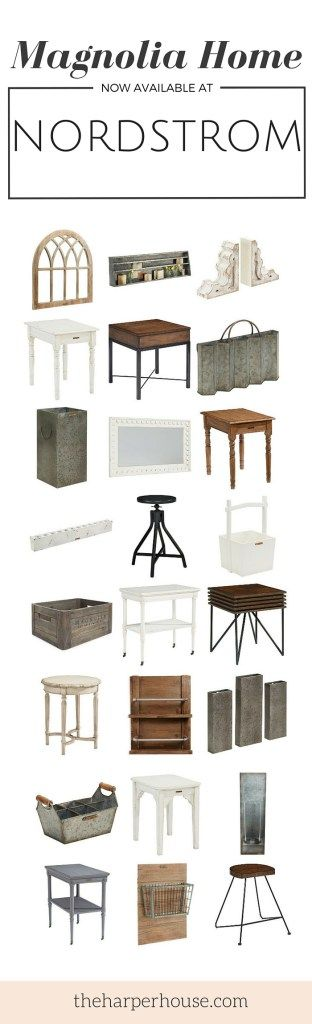 The wait is over! Joanna's new #fixerupper home decor and furnishing line, Magnolia Home, is now available at Nordstrom! Check out all the awesome new products at The Harper House