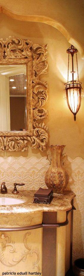 #Tuscan styled bathroom