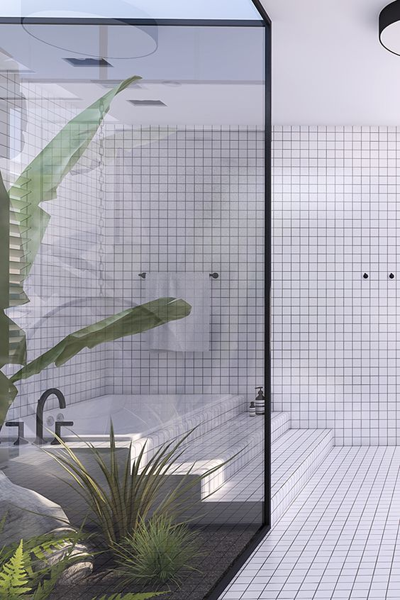 Urban contemporary bathroom. Design by Eleni Psyllaki @Eleni | My Paradissi