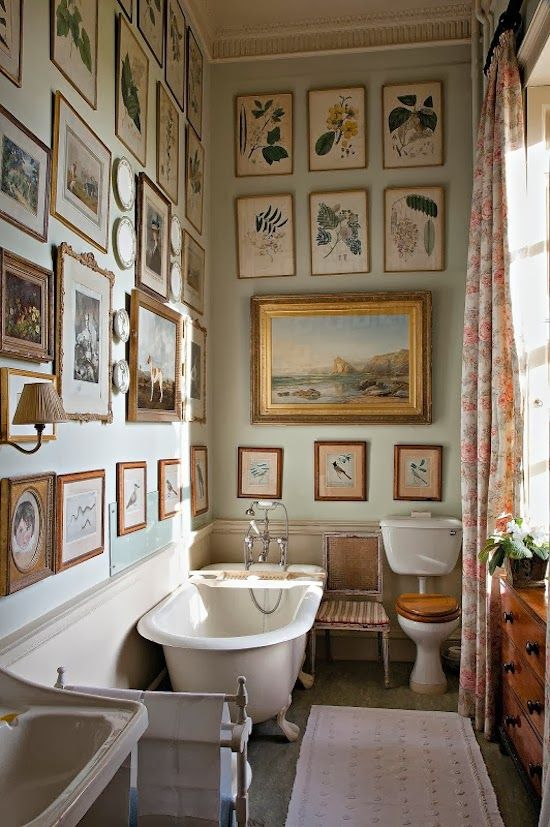 What a bathroom! How to hang pictures anywhere and  The English Country House