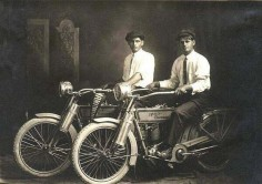 1.) William Harley and Arthur Davidson (1914).