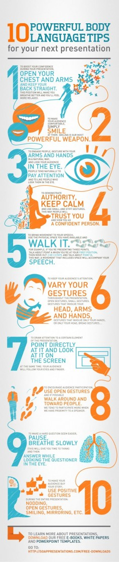 10 Body Language Tips Every Speaker Must Know (Infographic)
