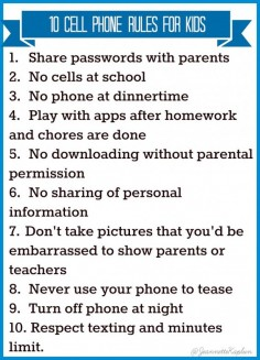 10 cell phone rules for kids