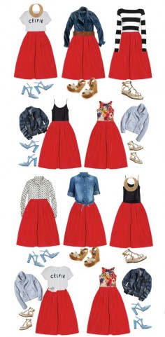 10 way to wear a midi skirt