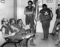 "11/26/1967-West Palm Beach, FL- Case involving members of ""Outlaws"" motorcycle club, who are accused of nailing a female member of their club to a tree for holding out $10."