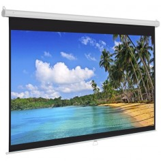 "119"" Manual Screen 84""X84"" Pull Down Projection Home Movie Theater Projector"