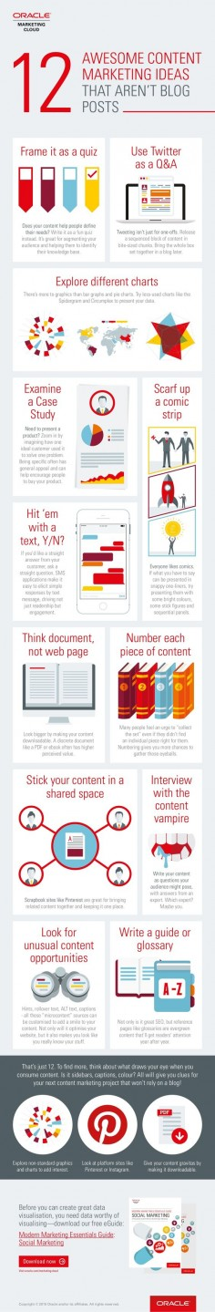 12 Great Content Marketing  Aren't Blog Posts - #infographic