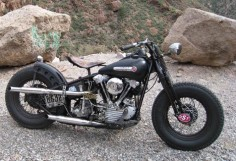 1947 Harley Knucklehead. FL 1200cc high compression Knucklehead engine.