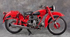 (1948) Moto Guzzi 250cc Airone Classic Motorcycle.