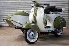 1969 Vintage Vespa 150 Scooter With Sidecar