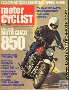 1972 Moto Guzzi Eldorado 850 test & specs