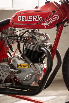 1976 Ron Wood built Norton flat tracker- this bike is the #44 machine that won the Ascot National in '78; Nortons last victory ©Douglas MacRae