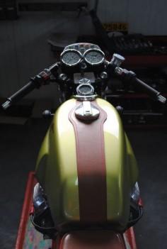 1978 Moto Guzzi V50 Cafe Racer, rider view