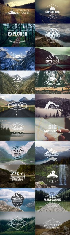 20 Adventure Badges & Logos #design Download: