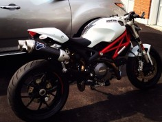 2012 Ducati Monster 796 with Termignoni exhausts and Rizoma Spy R mirrors and Rizoma sport line grips