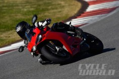 2015 Ducati 1299 Panigale S track action shot