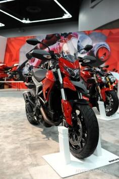 2015 Ducati Hyperstrada at the International Motorcycle Show in Portland, Oregon.