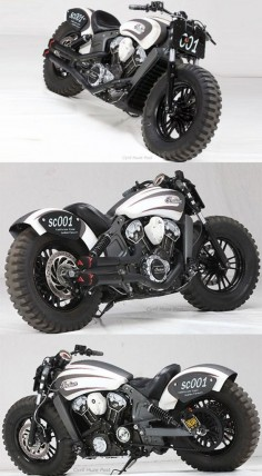2015 #Indian Scout: A Customized journey from Cruiser #Motorcycle to Off-roader