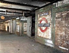 #30AS The abandoned Wood Lane tube station in London (closed in 1947). It is not so much the emptiness of the structures which causes unease, rather the lack of people who we know was once there. Why did they leave? Where did they go?