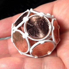 3D Dodecahedron Penny Ball, 18111 #3D #3Dprint #3Dprinting [more pics on Cults website]